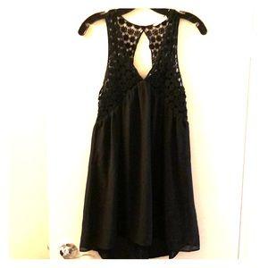 LUSH Crochet V-Neck Dress